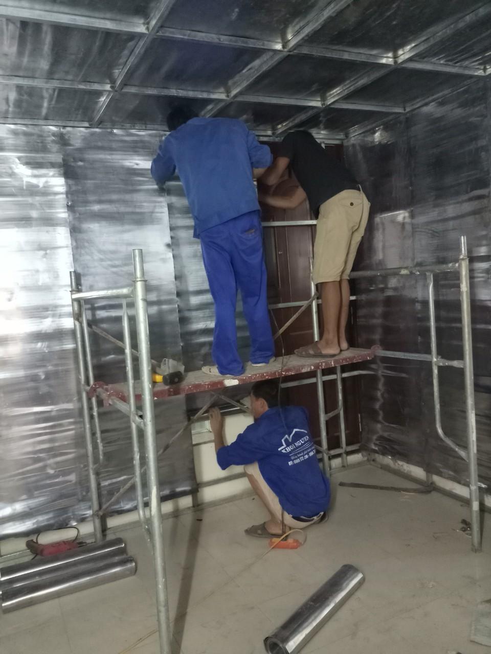 Thi công ốp chì tấm 2mm cho phòng CT – Scanner Cone Beam tại Vũ Ngọc Phan